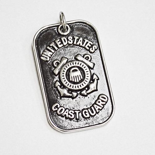 US Coast Guard Dog Tag Pendant 86-2028