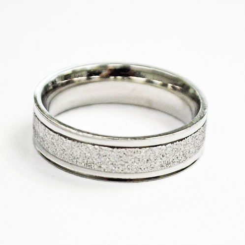 Glitter Stainless Steel Ring (6mm) 81-1242S