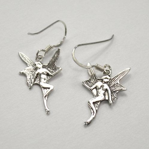 Fairy Dangling Sterling Silver Earrings 535247-D