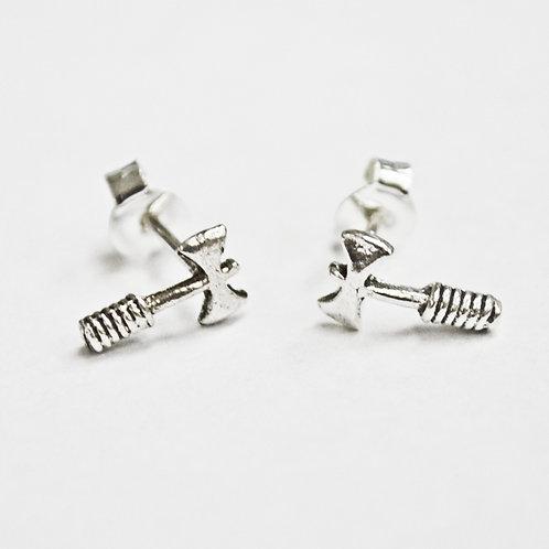 Axe Stud Earring