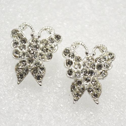 Butterfly CZ Stone Sterling Silver Earrings 533004