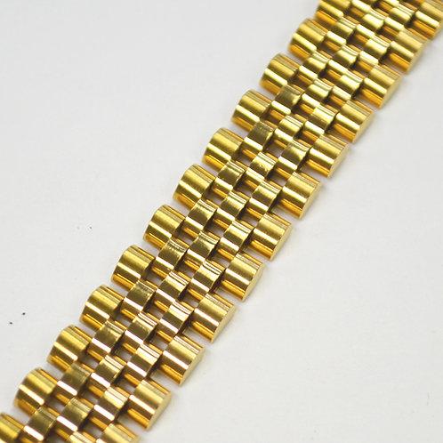 Designer Inspired Gold IP Plated Bracelet 84-1725G-16