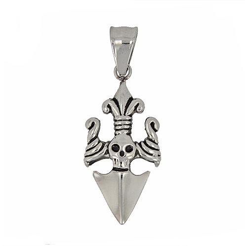 Stainless Steel Skull Dagger (17x28mm)