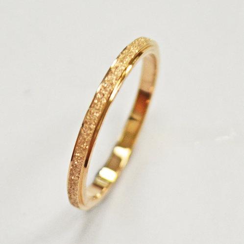 Glitter Rose Gold Ring (2mm) 81-1267-2