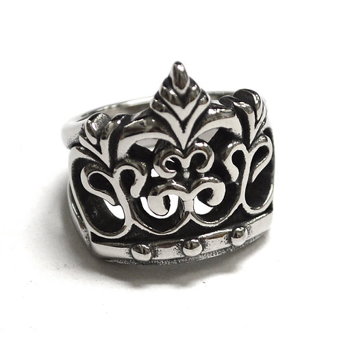 Crown Stainless Steel Ring 81-1412