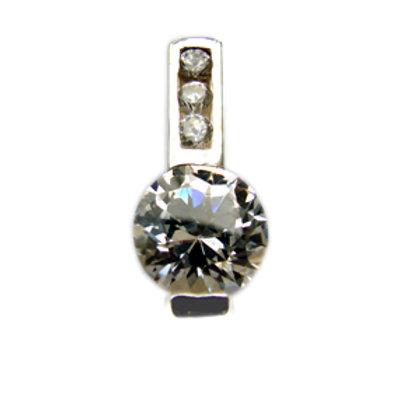 CZ Stone Pendant Sterling Silver 562055
