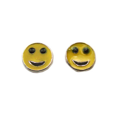 Smiling Face Stud Earring Sterling Silver 535008