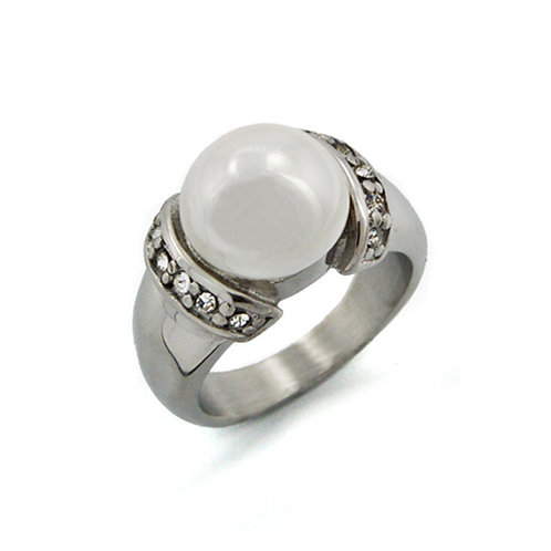 PEARL WITH STONE RING (11mm) 81-896