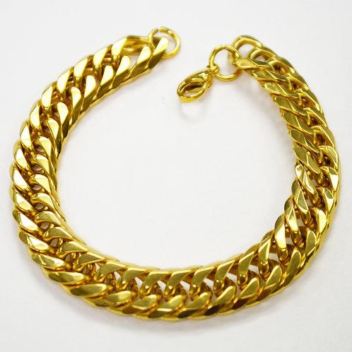 12mm ROMBO/GML Gold IP Plated Bevel Cut Bracelet 84-216G/BV-12