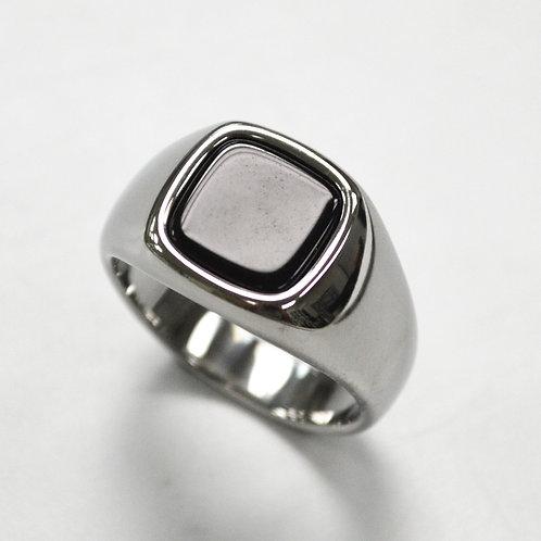 Black Stone Shiny Finished  Ring 81-1362S-Sm