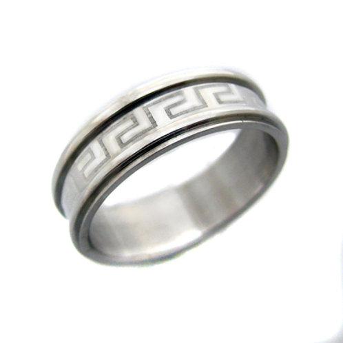 Greek Key Design Ring (6mm) 81-313