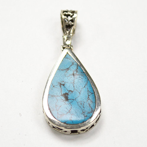 Turquoise Stone Pendant Sterling Silver 563007