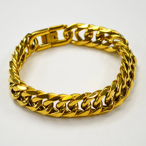 14mm ROMBO/GML Gold IP Plated Bracelet 84-1689G