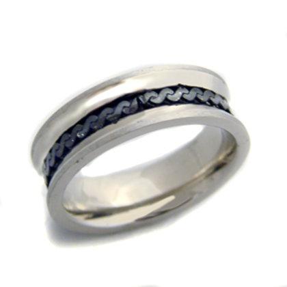 2 Tone Black Ring (6mm) 81-494