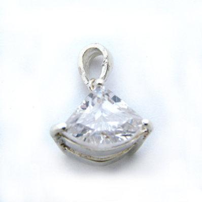 CZ Stone Pendant Sterling Silver 562029