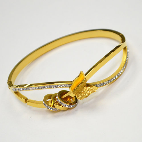 Gold Plated Stainless Steel Bangle 84-1794G