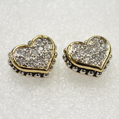 Designer Inspired Sterling Silver Earrings 53-3001