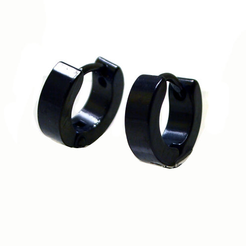 BLACK HUGGIE EARRINGS 83-581B