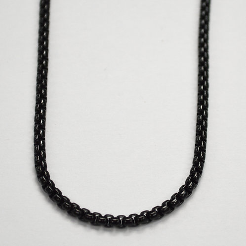 3m Black Sq ROLO Chain