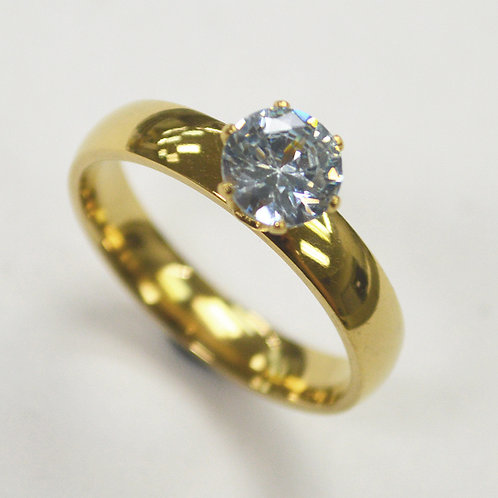 CZ Stone Gold Plated  Ring 81-1429G