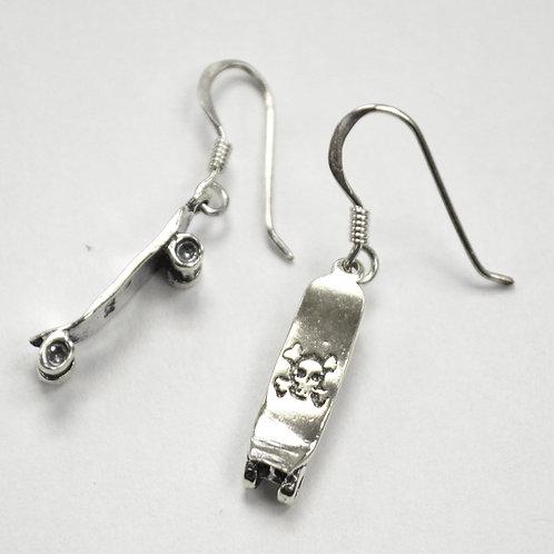 Skateboard Sterling Silver Earrings 531111