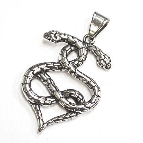 Snake Pendant Stainless Steel (33x48mm)