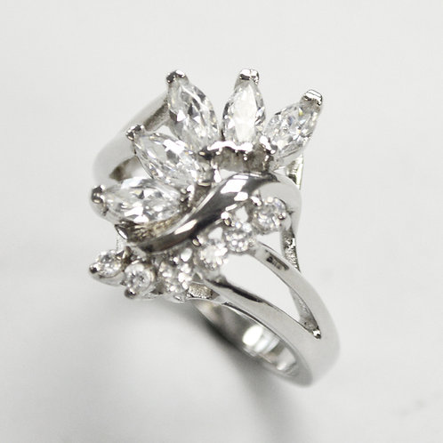 Multi Stone Marquise CZ Ring Sterling Silver 512014