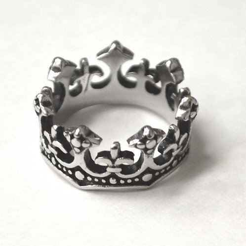 Crown Stainless Steel Ring 81-1485S