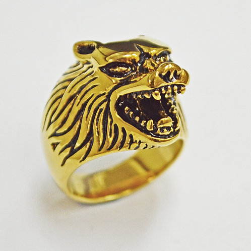 WOLF GOLD IP PLATE RING (17x25mm) 81-455G
