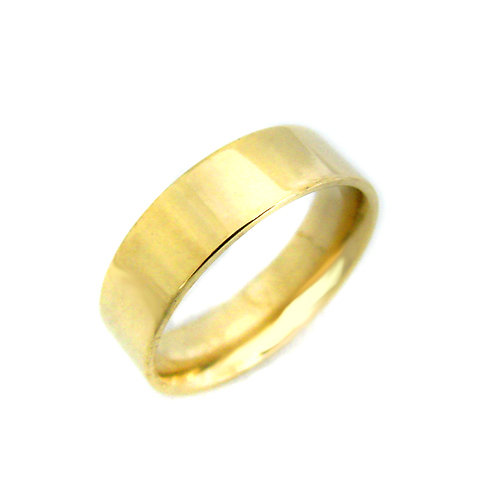 6MM GOLD FLAT BAND RING 81-827-6