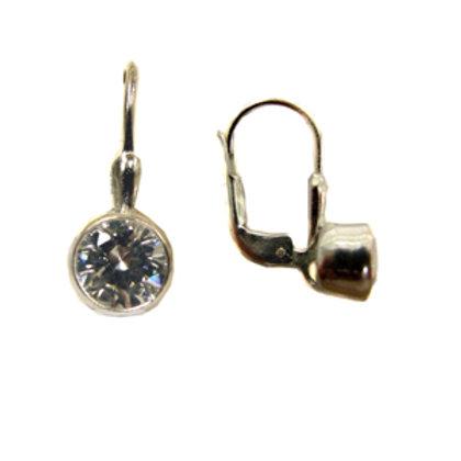CZ Stone Sterling Silver Earrings 533017