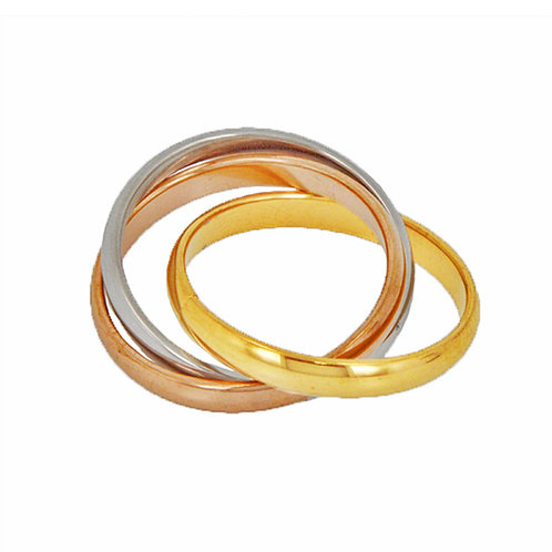 TRI COLOR TRIPLE BAND RING (3mm) 81-440