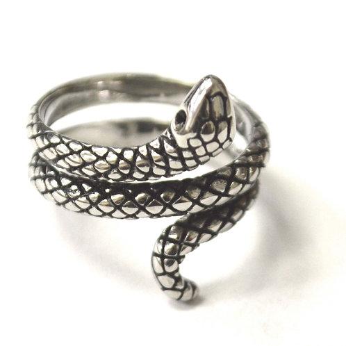 Snake Stainless Steel Ring 81-1339S-1