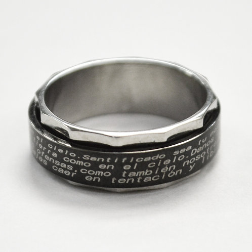 Spinner Ring with Padre Nuestro 81-430B