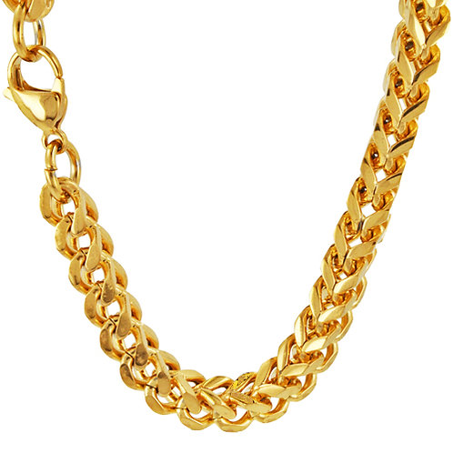 5m Franco Gold IP Plate Chain
