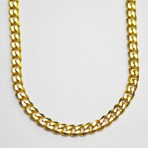 3.5m Miami Cuban Gold IP Plated Bevel Cut Chain