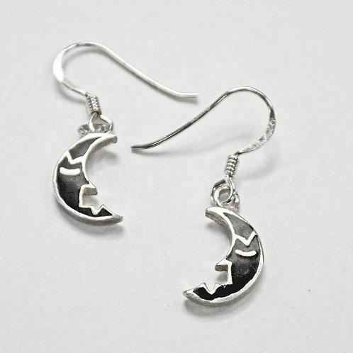 Half Moon Sterling Silver Earrings 535258