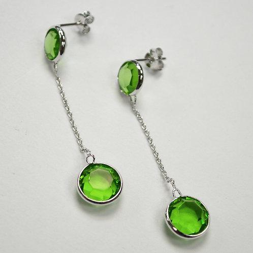 Crystal Stones Sterling Silver Earrings 534031-2
