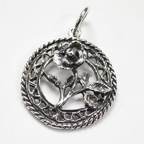 Rose Pendant Sterling Silver 561189