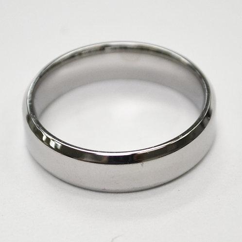 Flat Shiny Finished Bevel Ring 81-1353S-6