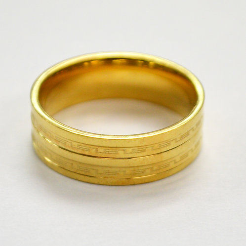 Gold IP Plated Design Ring 81-1345