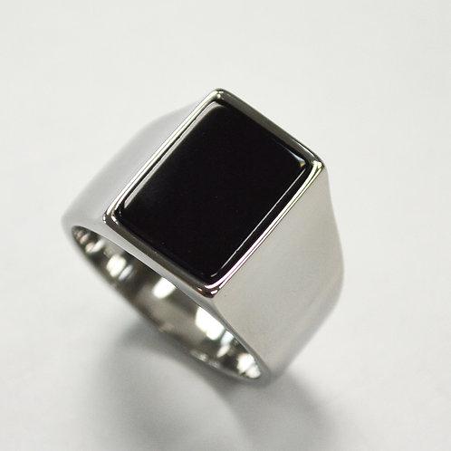 Black Stone Shiny Finished  Ring 81-1180-SH