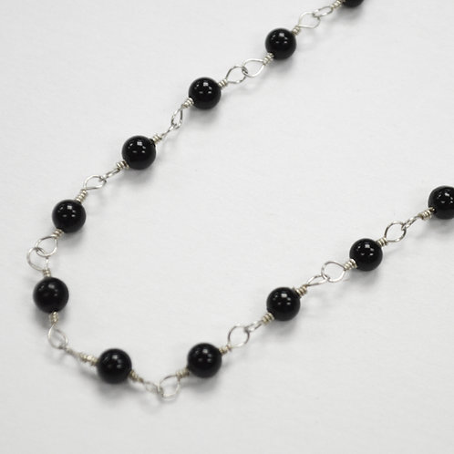 Black Onyx Bead Necklace 542057