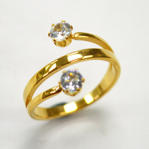 CZ Stone Gold IP Plated RING 81-1357