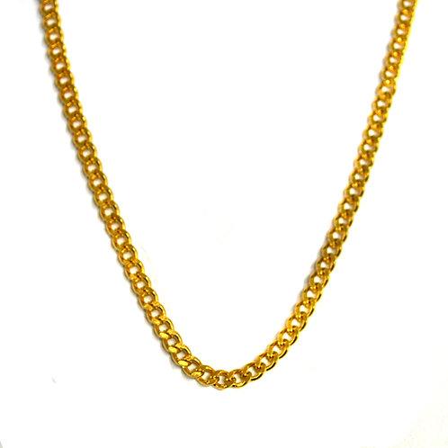 3m Gold IP Plate Cuban