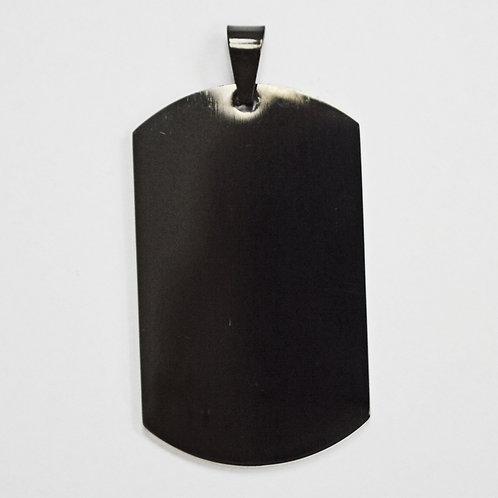 DOG TAG BLACK PLATED Pendant (30x50mm)