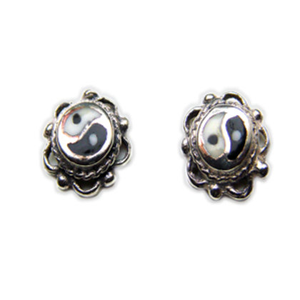 Ying & Yang Stud Earring Sterling Silver 535006