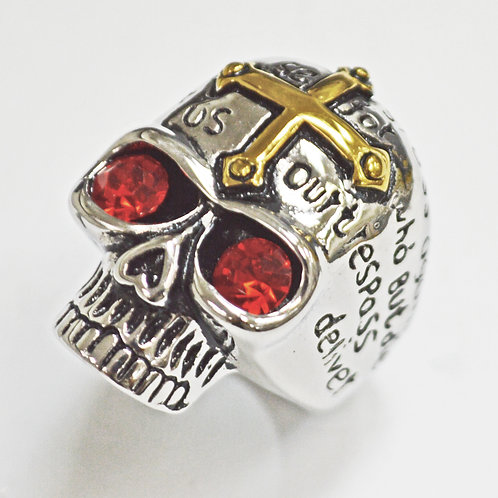 SKULL HEAD RING (20x32mm) 81-823-2T