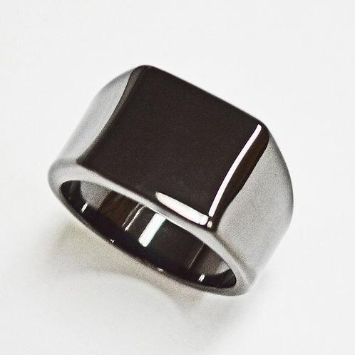 SIGNET Black Plated  Ring 81-1253B