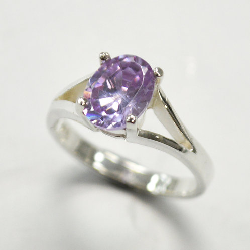 CZ Stone Ring Sterling Silver 512068
